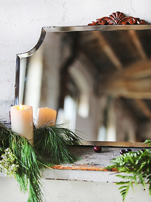 Vintage Frameless Mirror