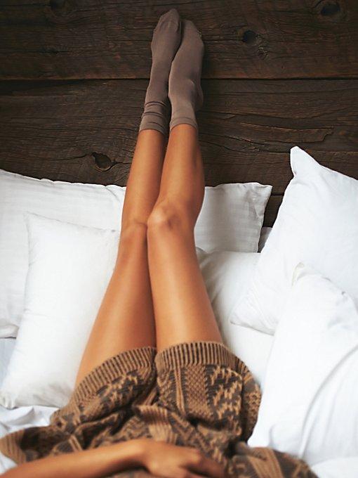 Flatknit Silk Crew Sock