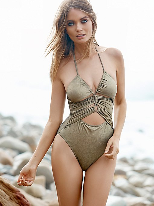 Sundance Ruched Tie One Piece