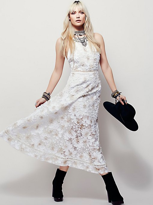 Laced Heart Midi Dress