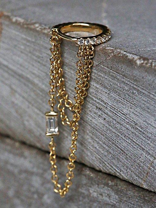 Diamond Eternity Helix Hoop