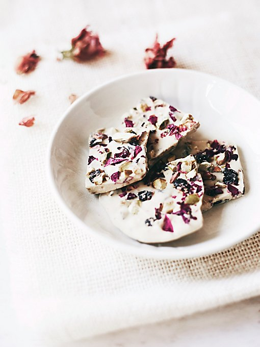 Vegan White Chocolate Flower Bark