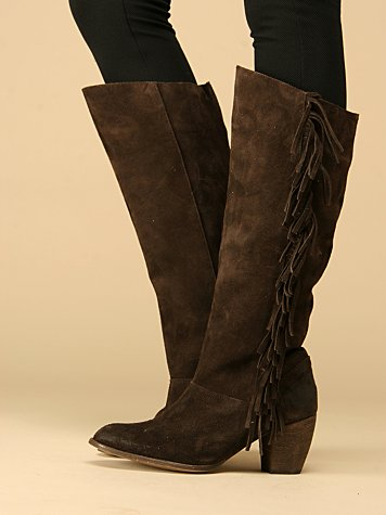 Saddle Fringe Boot